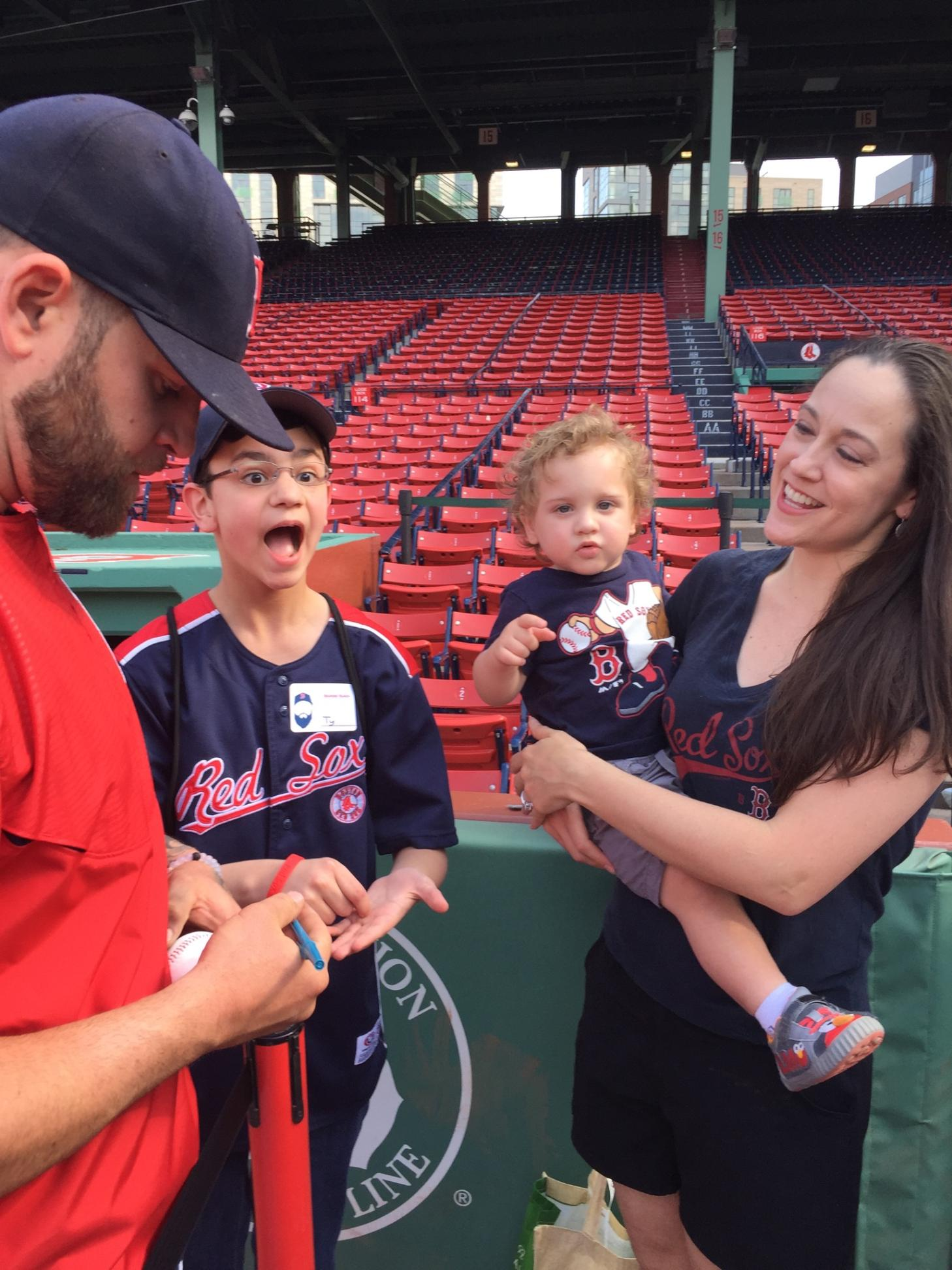 Boston red sox meet greet gods little miracle image m4hsunfo